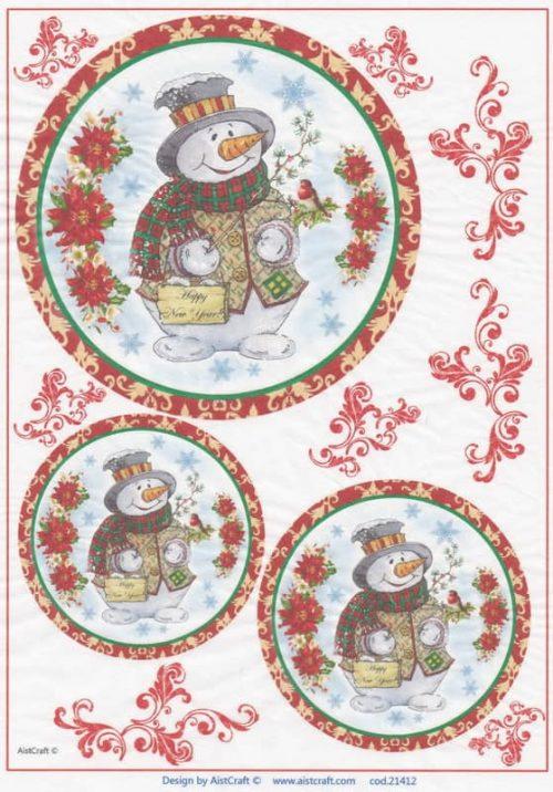 Rice Paper - Snowmen
