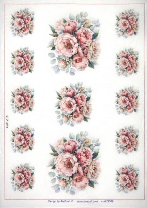 Rice Paper -  Tiny bouquets