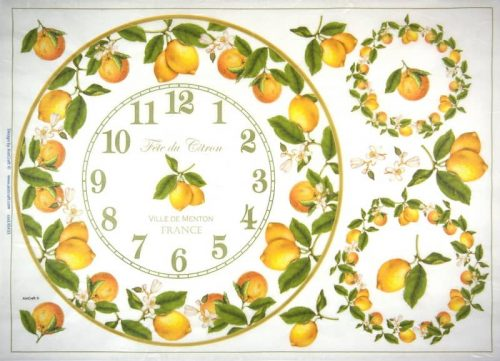 Rice Paper - Lemon Clock