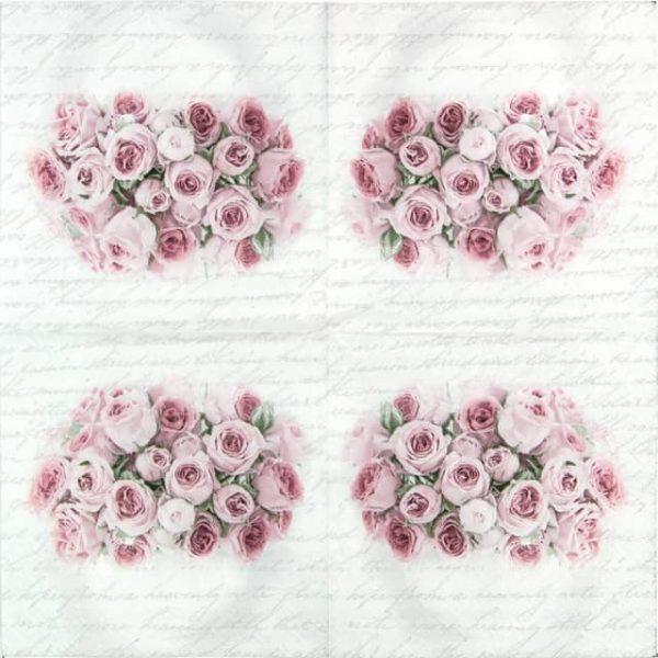 Paper Napkin - Roses in Vase Wedding