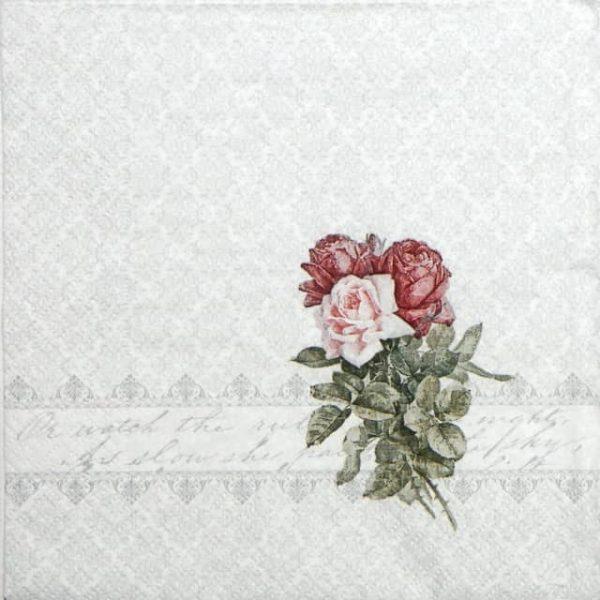 Paper Napkin - Rose Bouquet Ornament