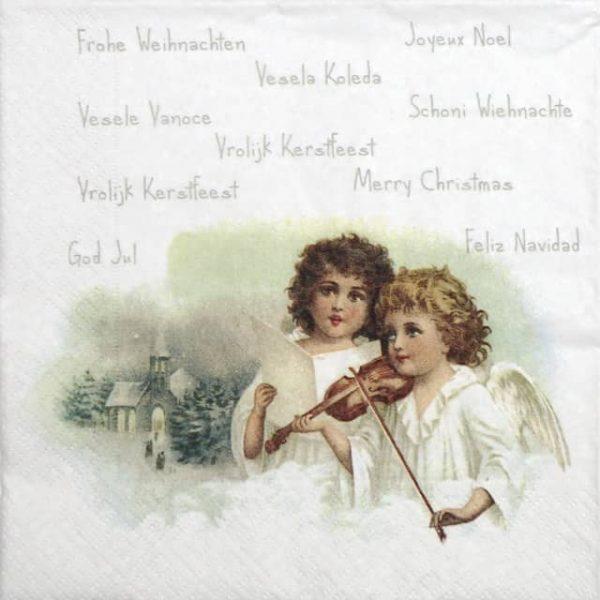Paper Napkin - Angels Playing Violin