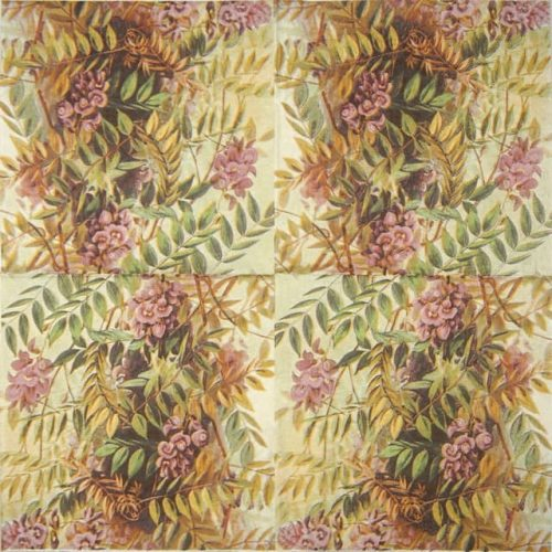 Lunch Napkins (25) - Pink autumn motive