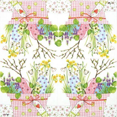 Paper Napkin - Spring Easter Flowers