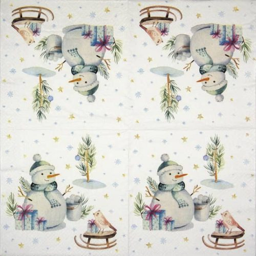 Paper Napkin - Lovely snowman_TETEáTETE_TL834000