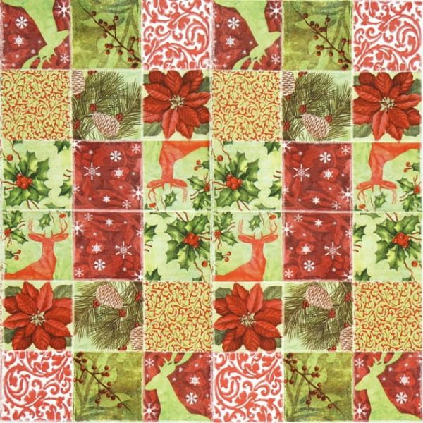 Paper Napkin - Christmas Collage