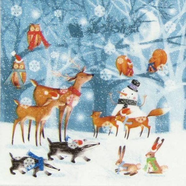 Lunch Napkins (20) - Winter Forest Scene