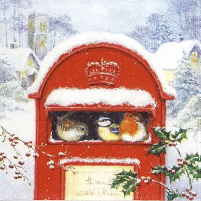 Paper Napkin - Red Post Box