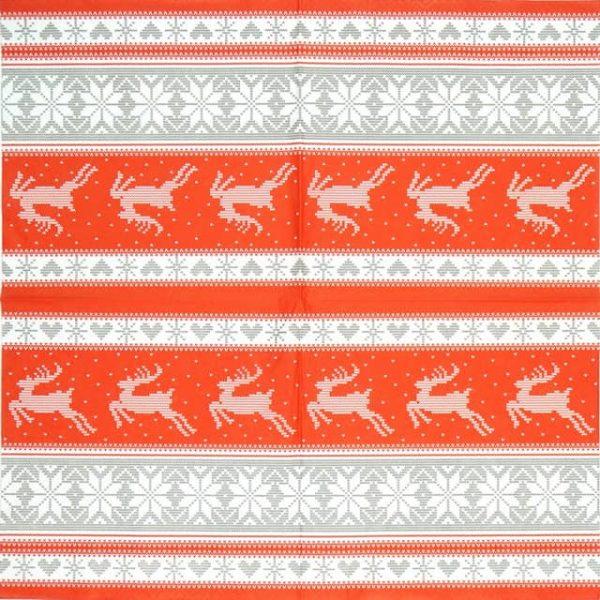 Paper Napkin - Nordic Knitting