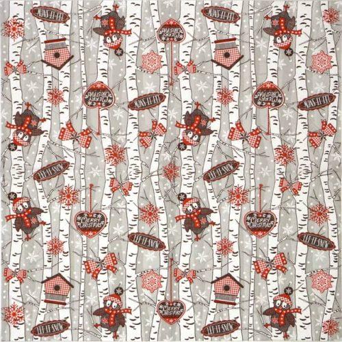 Paper napkin Birchwood at Wintertime grey Ti-flair_317705