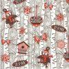 Paper Napkin - Birchwood at Wintertime grey