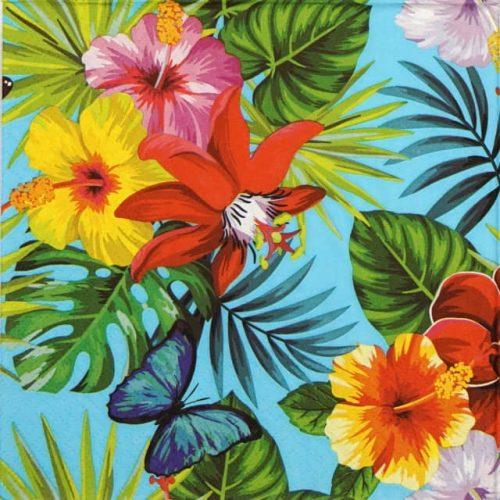 Paper Napkin - Jungle Fever blue