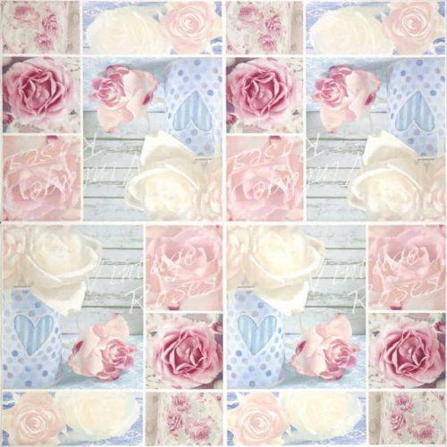 Lunch Napkins (20) - Vintage Roses