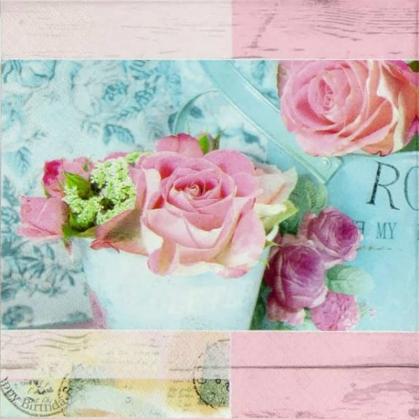 Paper Napkin - Belle Fleurs de Paris rose