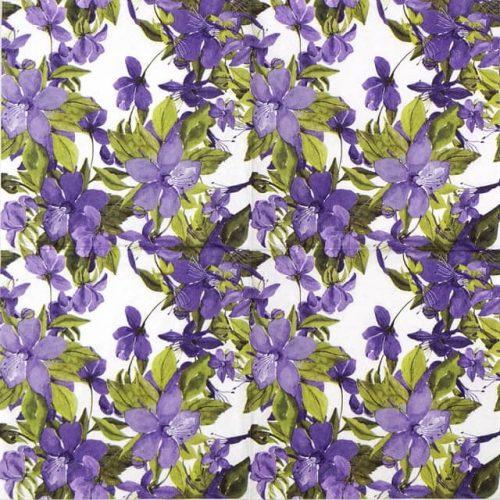 Paper Napkin - Flowering Clematis Lilac