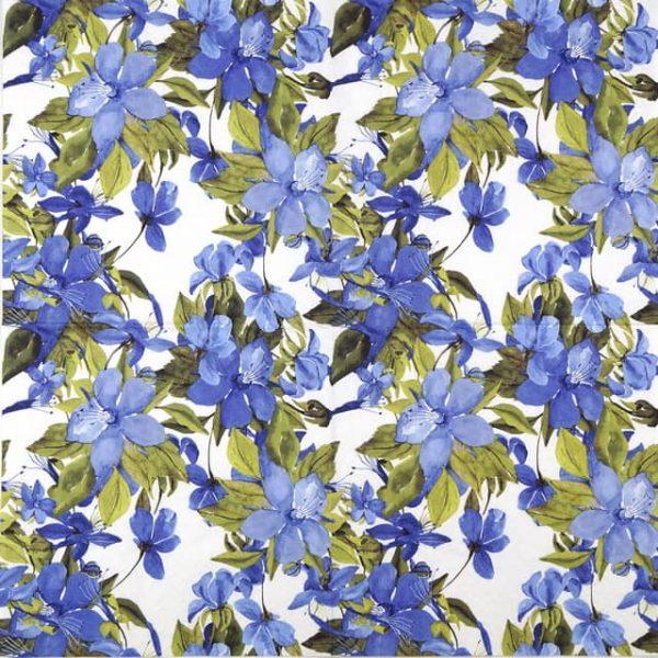Paper Napkin - Flowering Clematis Blue