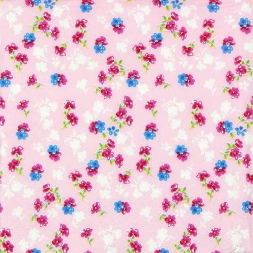 Paper Napkin - Millefleurs light pink