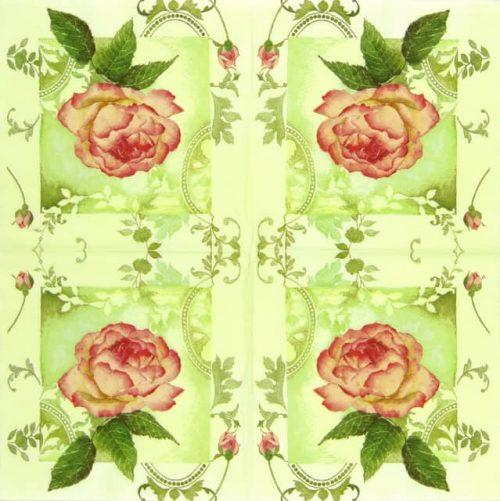 Paper Napkin - Enchanting Roses