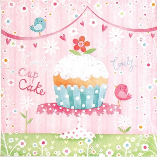 Paper Napkin - Lovely Cup Cake