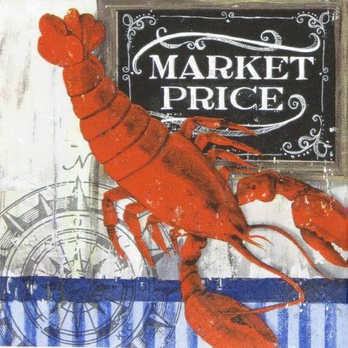 Paper Napkin - Lobster Sea
