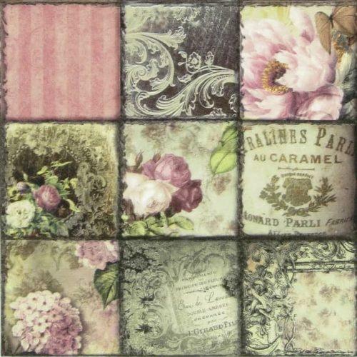 Paper Napkin - Collage Paris