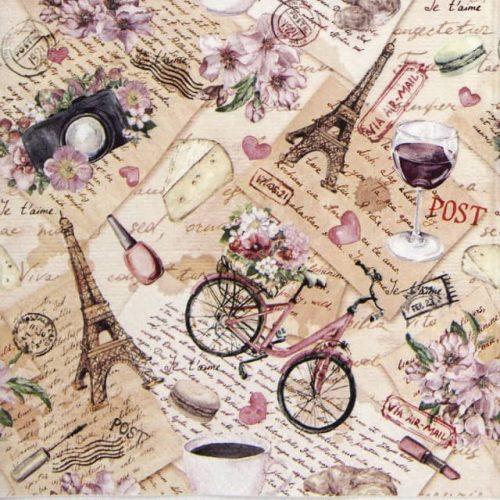 Paper Napkin - Voyage a Paris