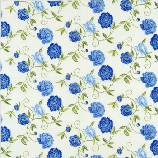 Paper Napkin - Peony Blue