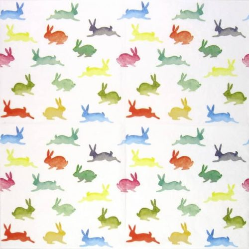 Paper Napkin - Colourful Rabbits