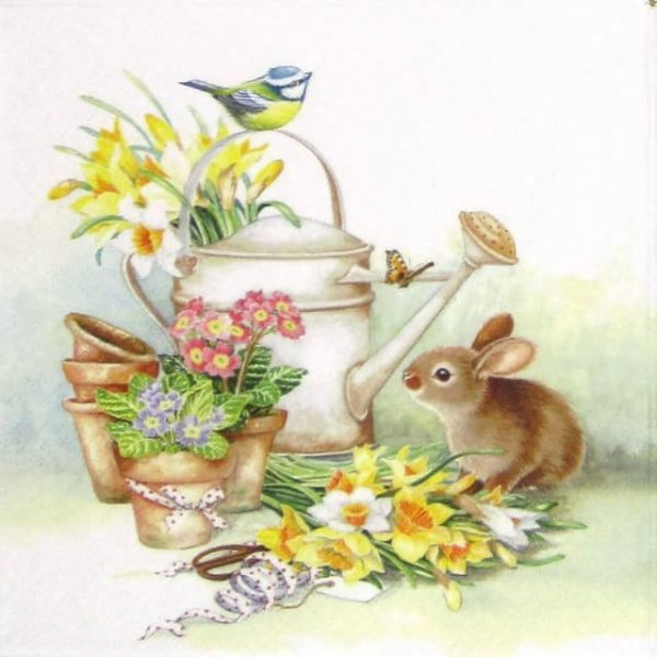 Lunch Napkins (20) - Bunny with Watering Can