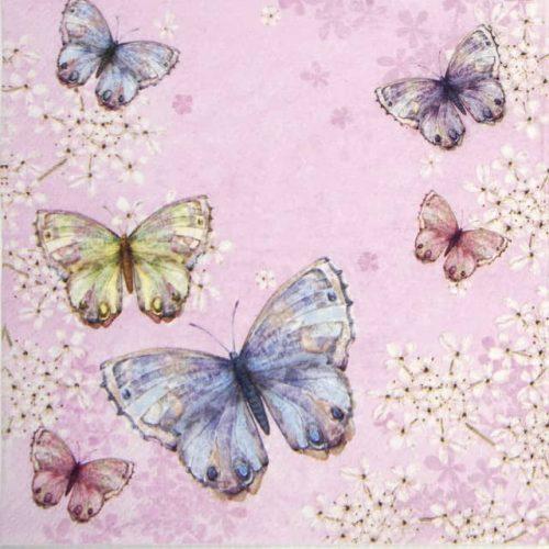 Paper Napkin - Bellissima farfalla pink