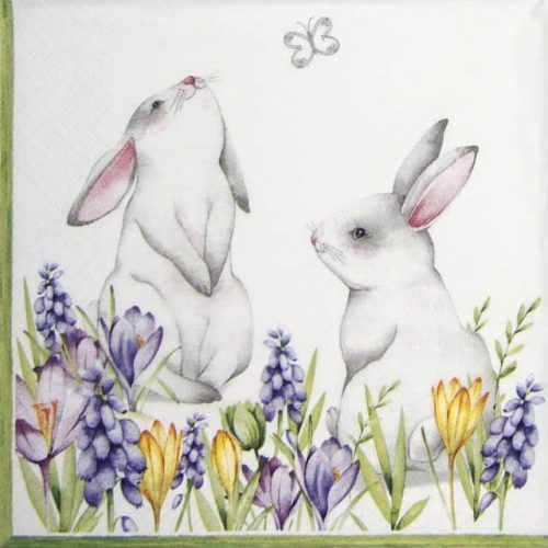 Paper Napkin - Bunnies in Spring