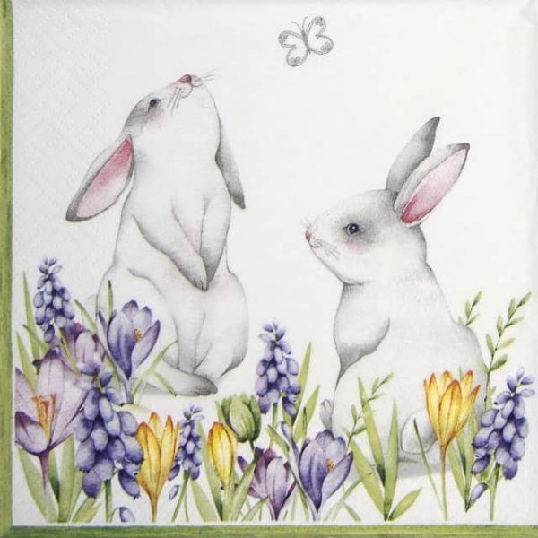 Paper Napkin - Bunnies in Spring