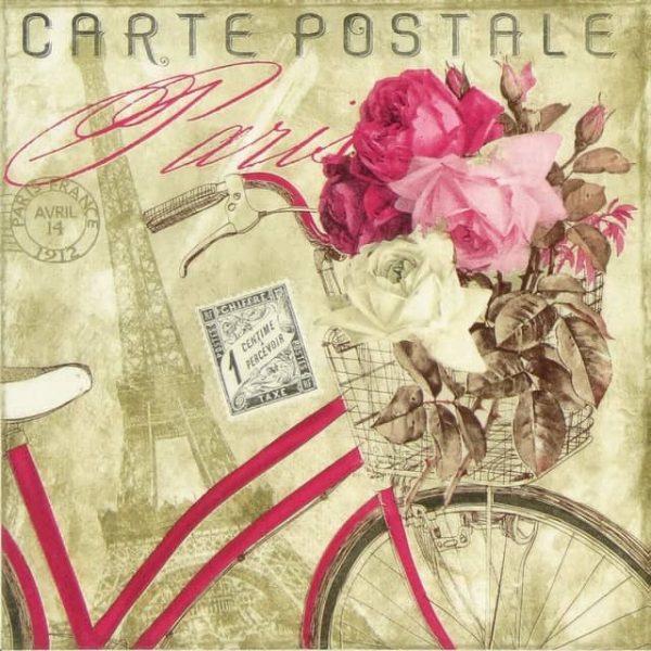 Paper Napkin - Carte Postale Paris