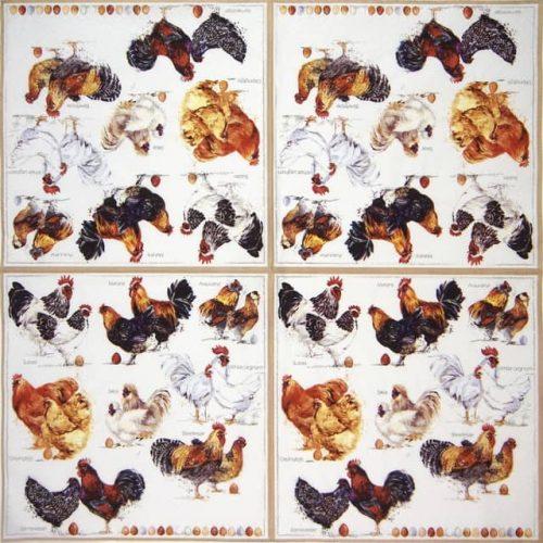 Paper Napkin - Poulets