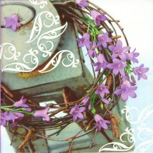 Paper Napkin - Violet Bellflowers