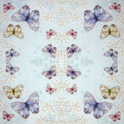 Paper Napkin - Bellissima farfalla blue