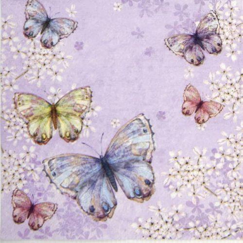 Paper Napkin - Bellissima farfalla lilac