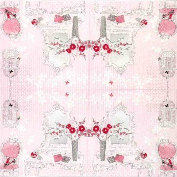 Lunch Napkins (20) - Dressing Pink