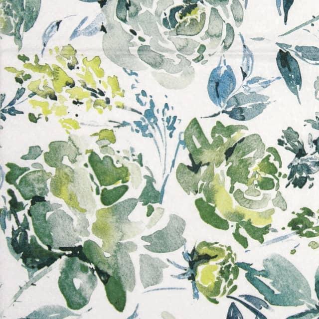Paper Napkin - Fleurs Lumineuses green