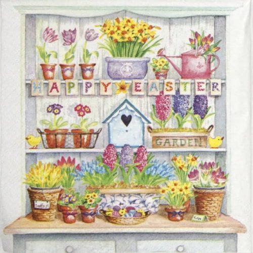 Paper Napkin - Happy Easter cupboard