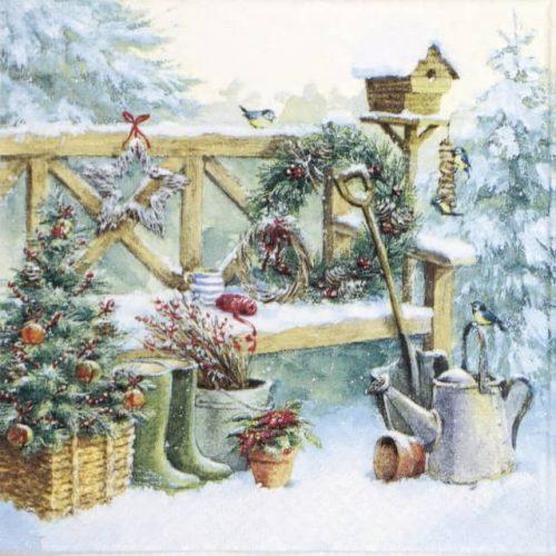 Paper Napkin - Winter Gardening