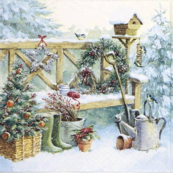 Lunch Napkins (20) - Winter Gardening