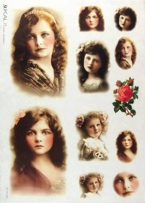 Rice Paper - Old Pictures Girls