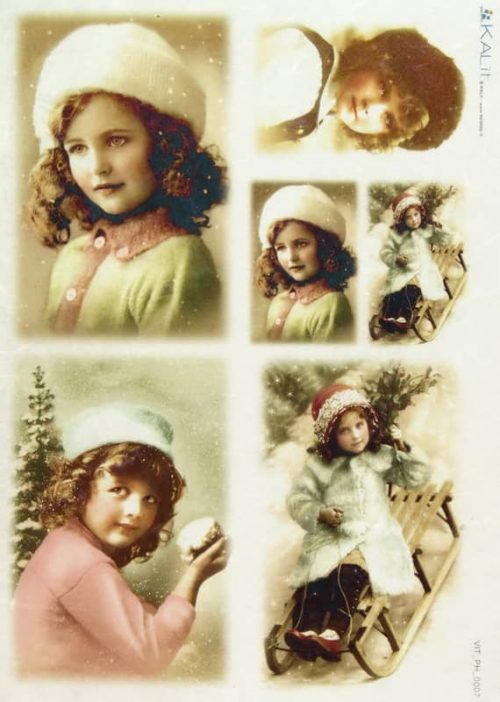Rice Paper - Old Pictures Girls in Winter