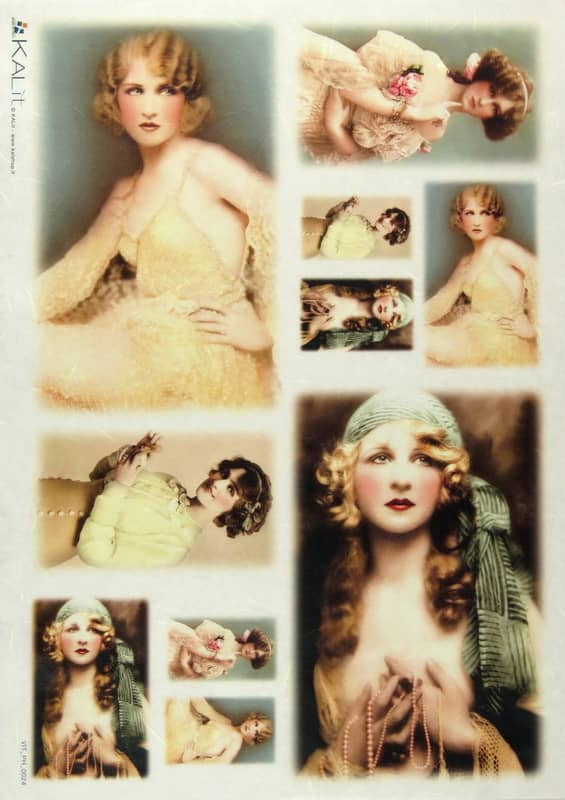 Rice Paper - Old Pictures Beautiful Blondies