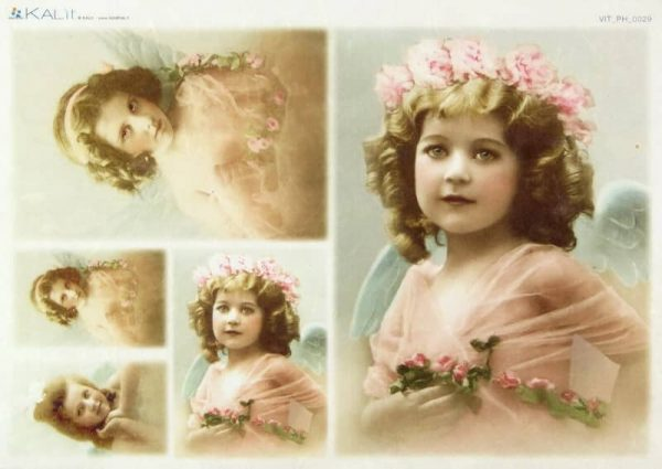 Rice Paper - Old Pictures Girls in Pink