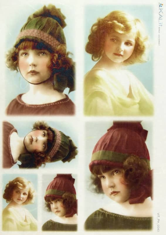 Rice Paper - Old Pictures Girl with Cap
