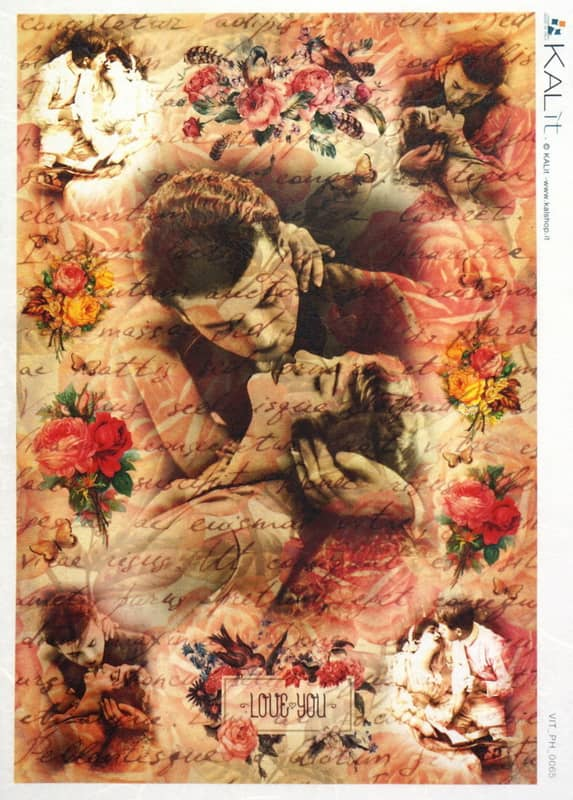 Rice Paper - Old Pictures Lovers Kissing