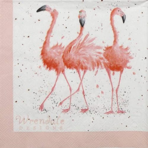 Cocktail Napkins (20) - Wrendale Design: Pretty in Pink