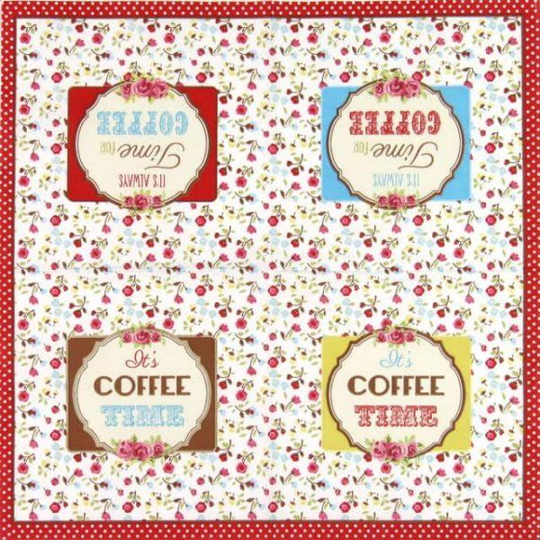 Paper Napkin - Ditsy Coffee